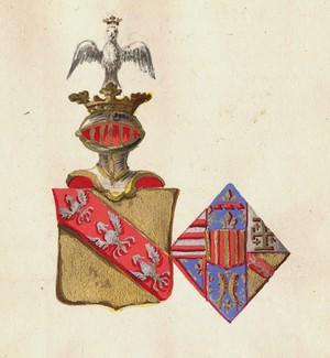 (St-Julien) Moyen Âge..., les blasons